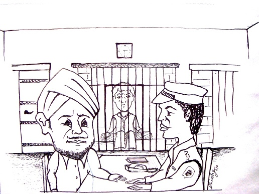 Raunak at police station