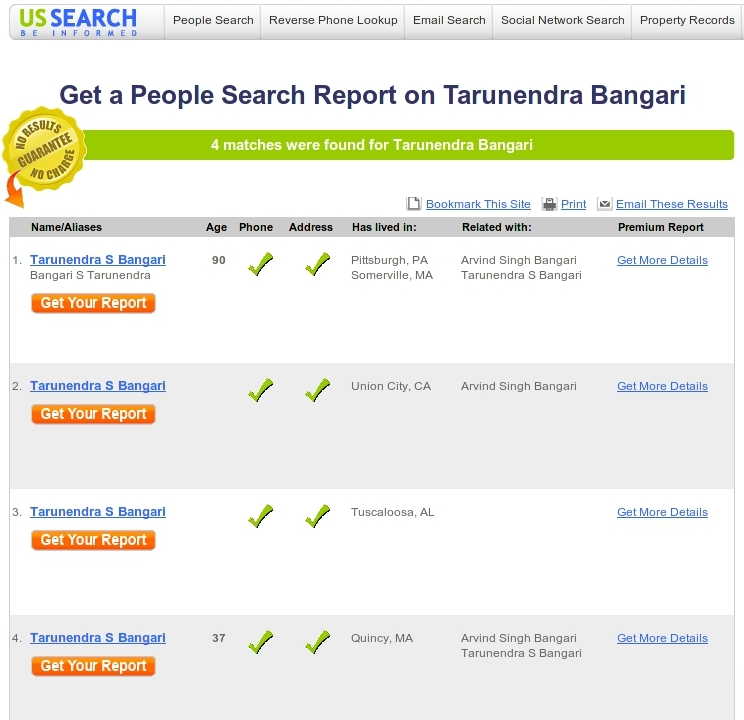 People Search Screenshot 1